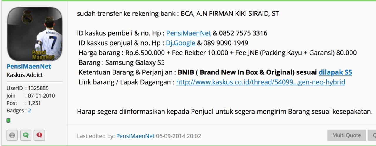 RekBer Q-BANK - Murah, Aman & Terpercaya [thread lanjutan ke-2] - Part 2