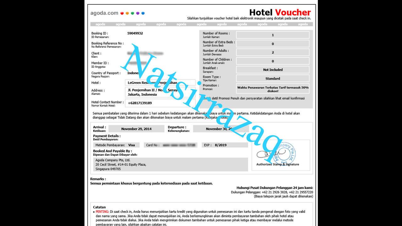 Jasa Booking Hotel via AGODA