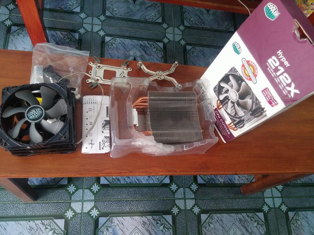 Jual HSF Cooler Master Hyper 212X / CM 212X, Fullset, Garansi, 1 Fan CM Sickleflow