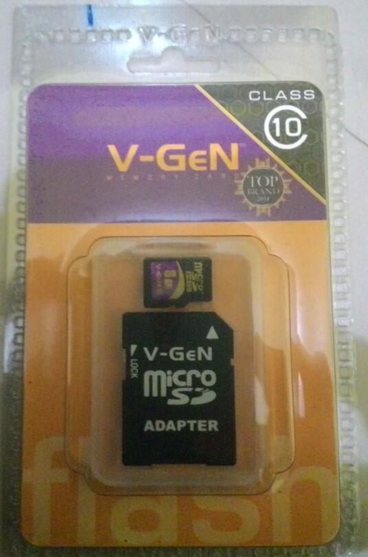 microsd card V-GEN 8GB & 16GB class10 +adapter [harga dijamin MURAH!!!]