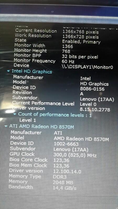 laptop gaming LENOVO G400 500gb ram 8gb dual vga, ati radeon hd 8570m 2gb bandung