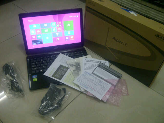 LAPTOP ACER E1-470G core I3-vga Nvidia Geforce 2gb-(GAMING / GRAPICH)-Grns s/d 092015