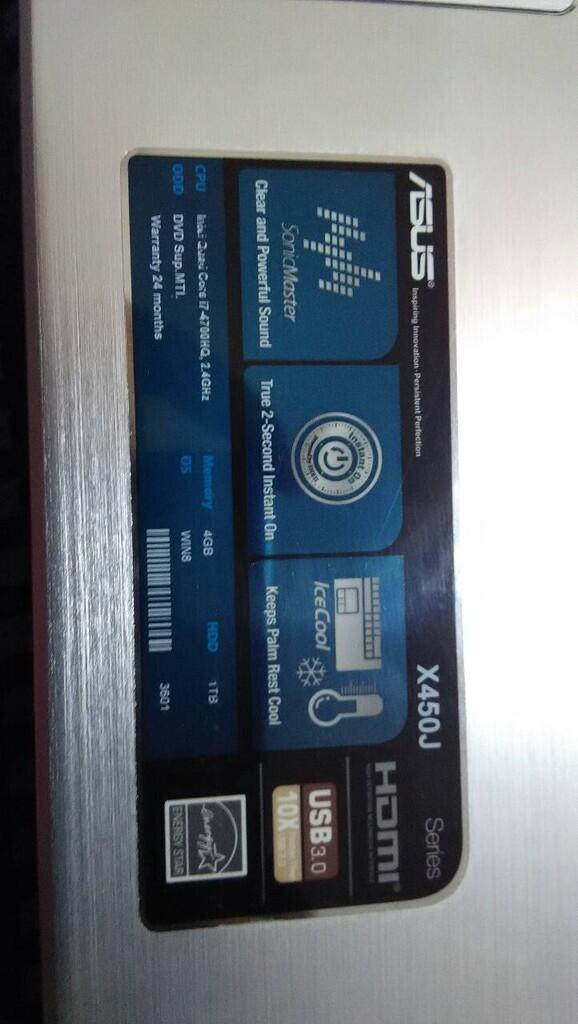 WTS ASUS X450JF (BANTU TEMEN)