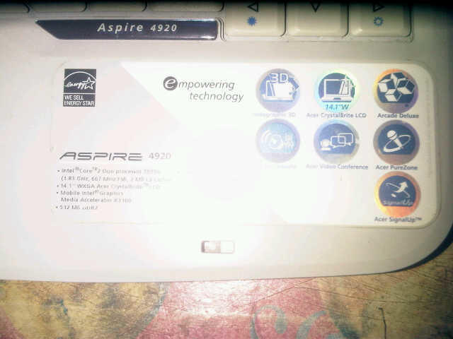 Laptop Acer 4920 murah