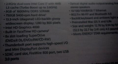 Macbook Pro 13-inch Mid 2012 MD102 i7 2.9GHz 8GB 750GB mulus lengkap