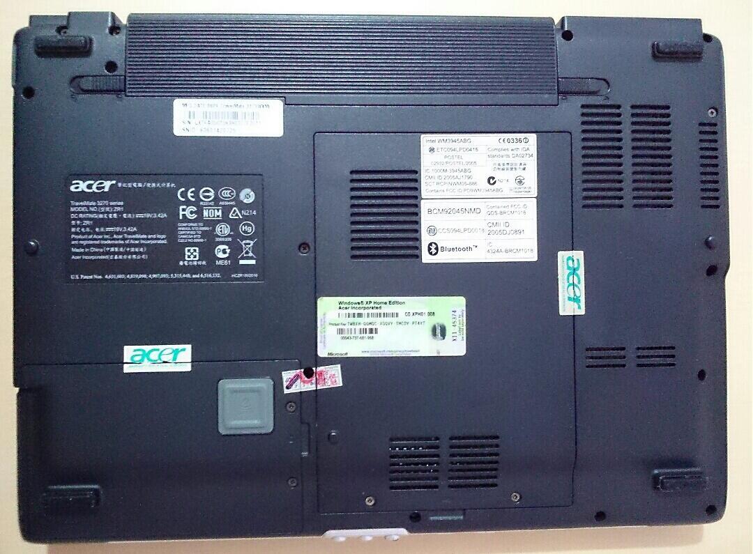 Laptop ACER TravelMate 3273WXMi kondisi OK lengkap