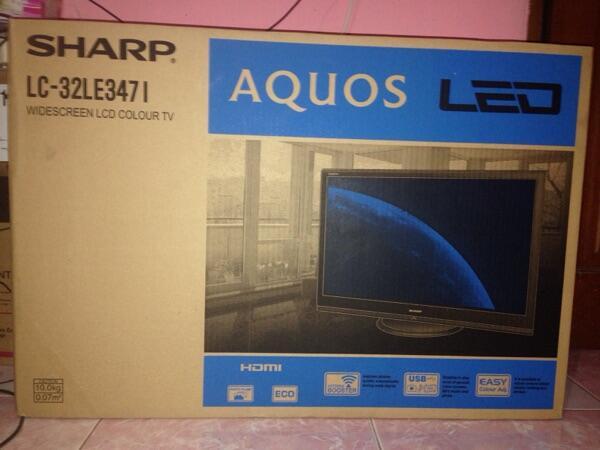 LED TV Sharp AQUOS 32 inch 100% Baru!!!