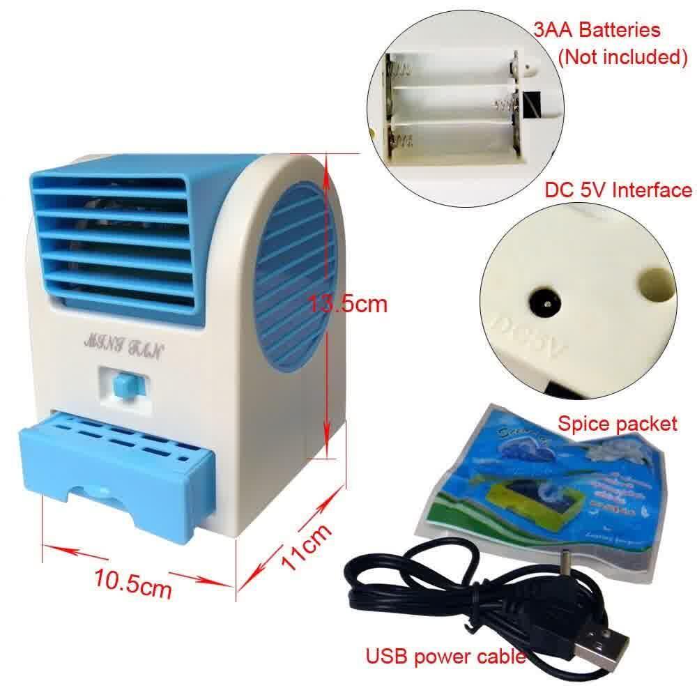 AC Duduk Mini Portable Fragrance Handy Cooler Bladeless Fan. Termurah!!!!
