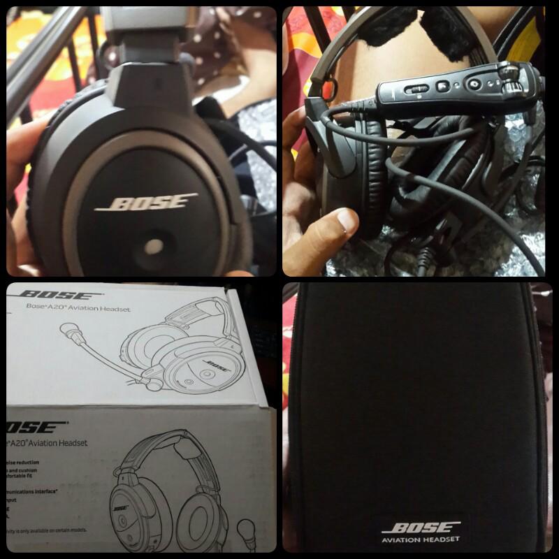 Headset David Clark H10 13-X dan BOSE A 20