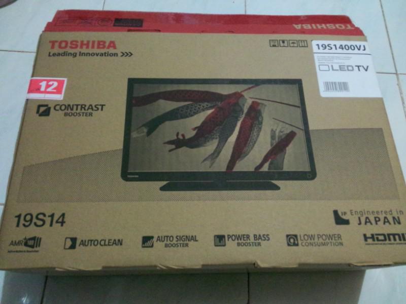 "TV LED Toshiba 19"" type 19S1400VJ"