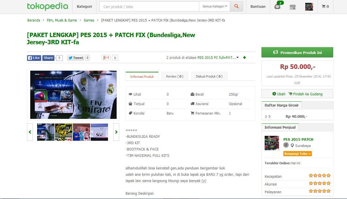 [PAKET LENGKAP] PES 2015 + PATCH FIX (Bundesliga,New Jersey-3RD KIT-face-logo-emblem)