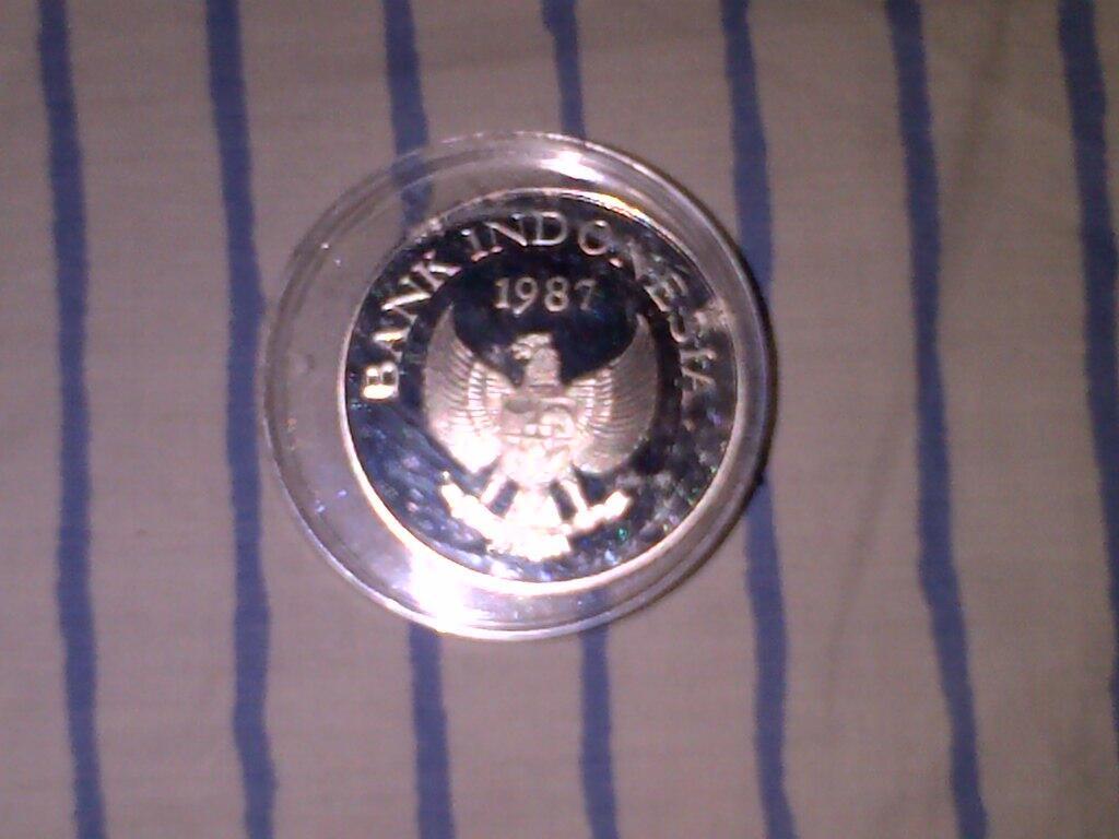 Uang koin perak Macan 1974 & Babi Rusa 1987 WWF Silver Coin Proof