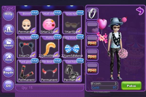Jual char Audition mobile