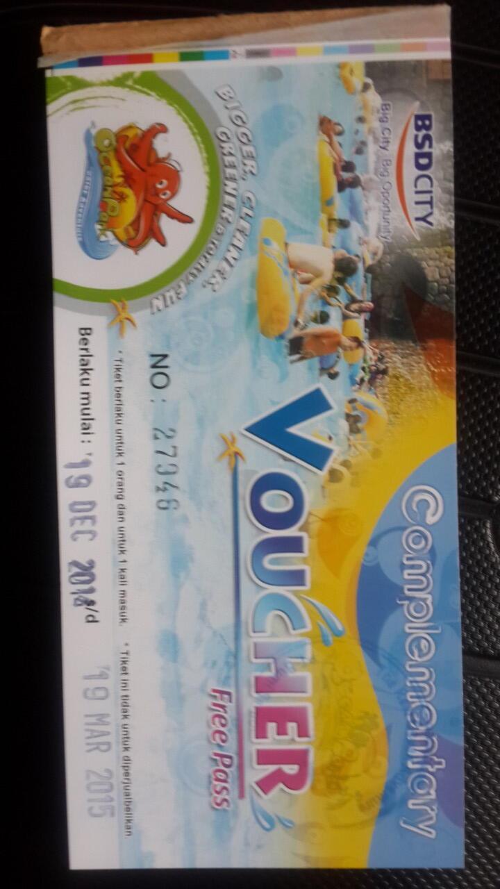 Terjual Tiket Dufan Atlantis Jungle Land Waterboom Ocean Park Bsd