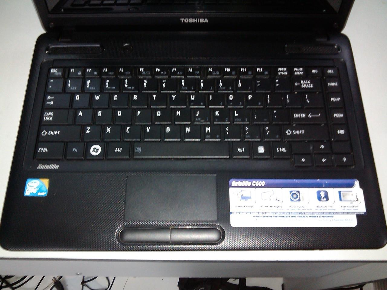 Laptop Gaming TOSHIBA C600 Core 2 Duo T-5670 Ram 2 HDD 320