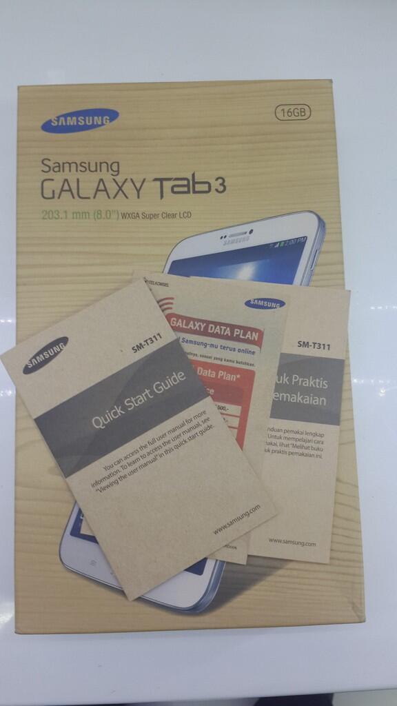 Dijual Cepat Samsung Galaxy Tab 3 8.0 Inc White Sm-T311 3G Wifi 2 Jt Cod Jakbar