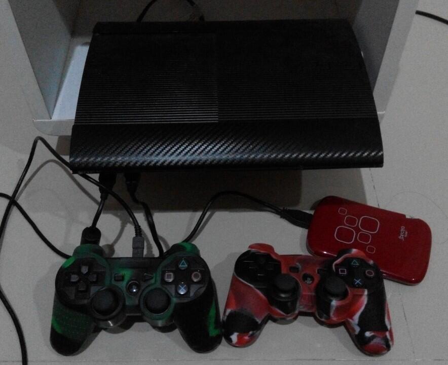 Wts PS3 superslim Ode + hd ext 500gb full game like new tangerang kota