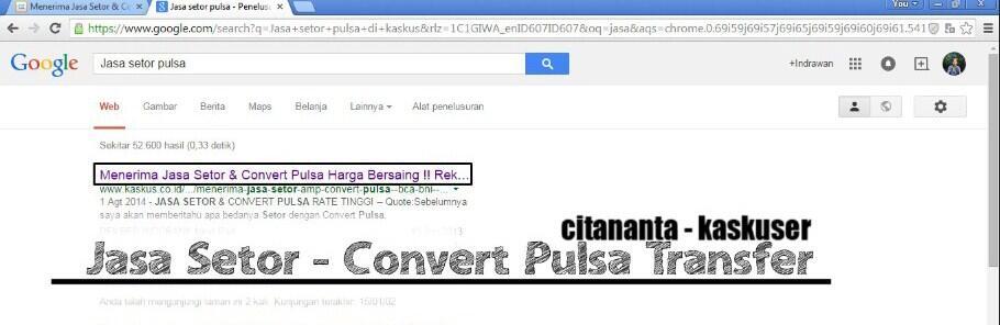 Menerima Jasa Setor & Convert Pulsa [ BCA, BNI ] Harga Bersaing !! Rekber OKE !!