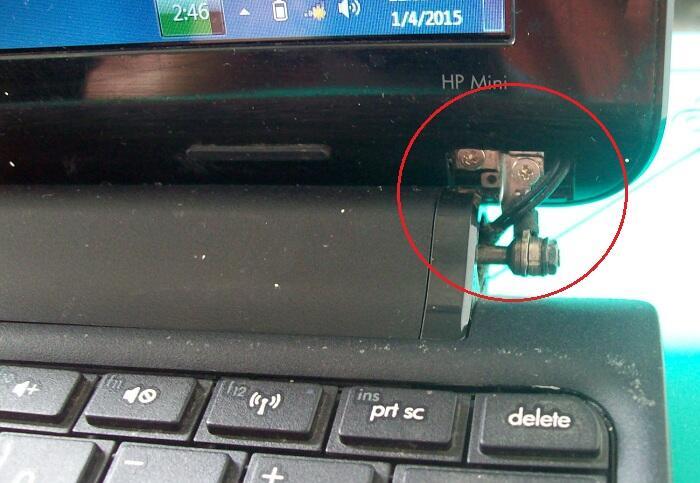 [Bandung] Parts / Pretelan Netbook HP Mini 110-3740TU, Intel Atom N570
