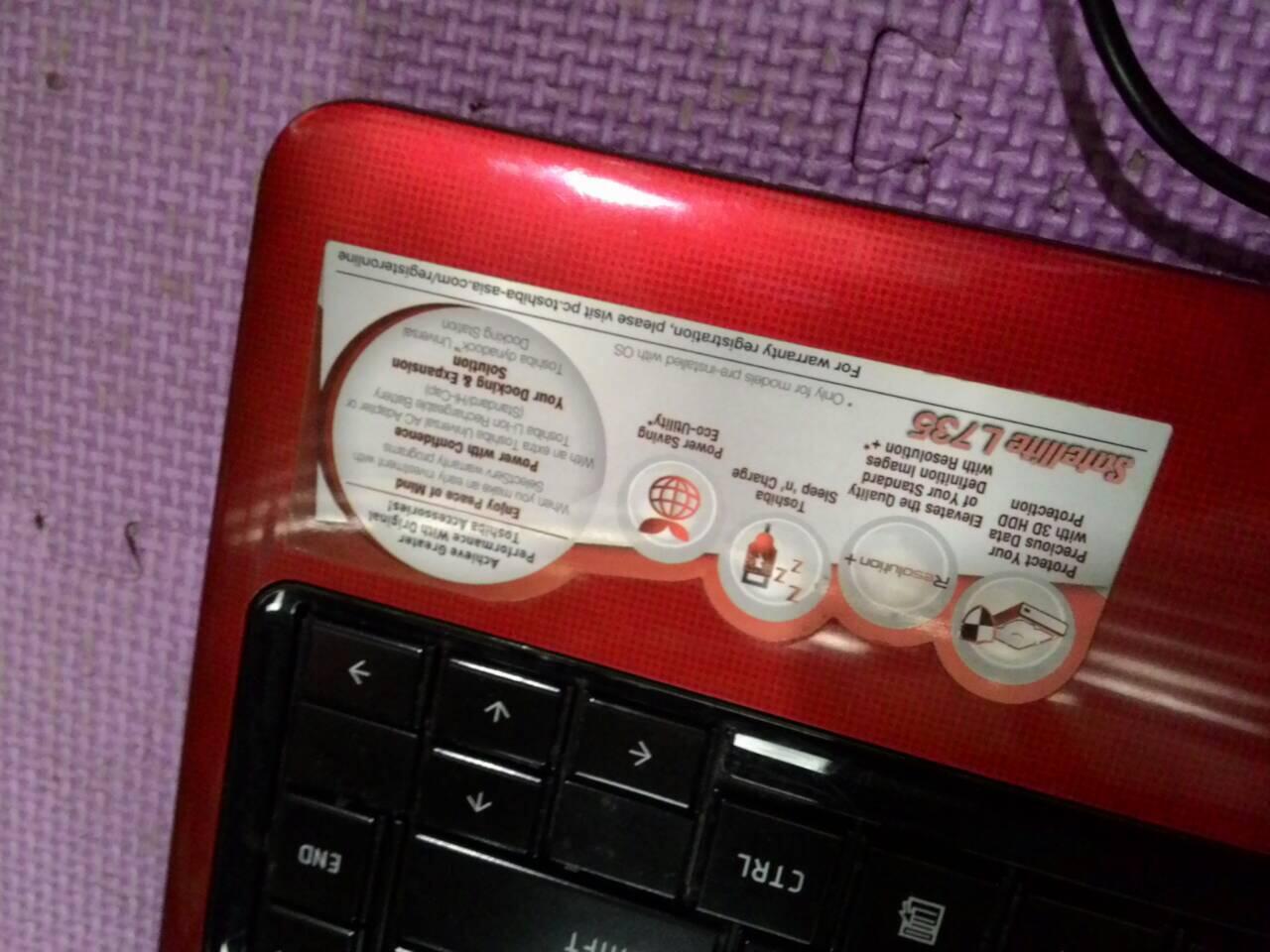 Toshiba L735 ci3 apa adanya murmer gans. cekidot...