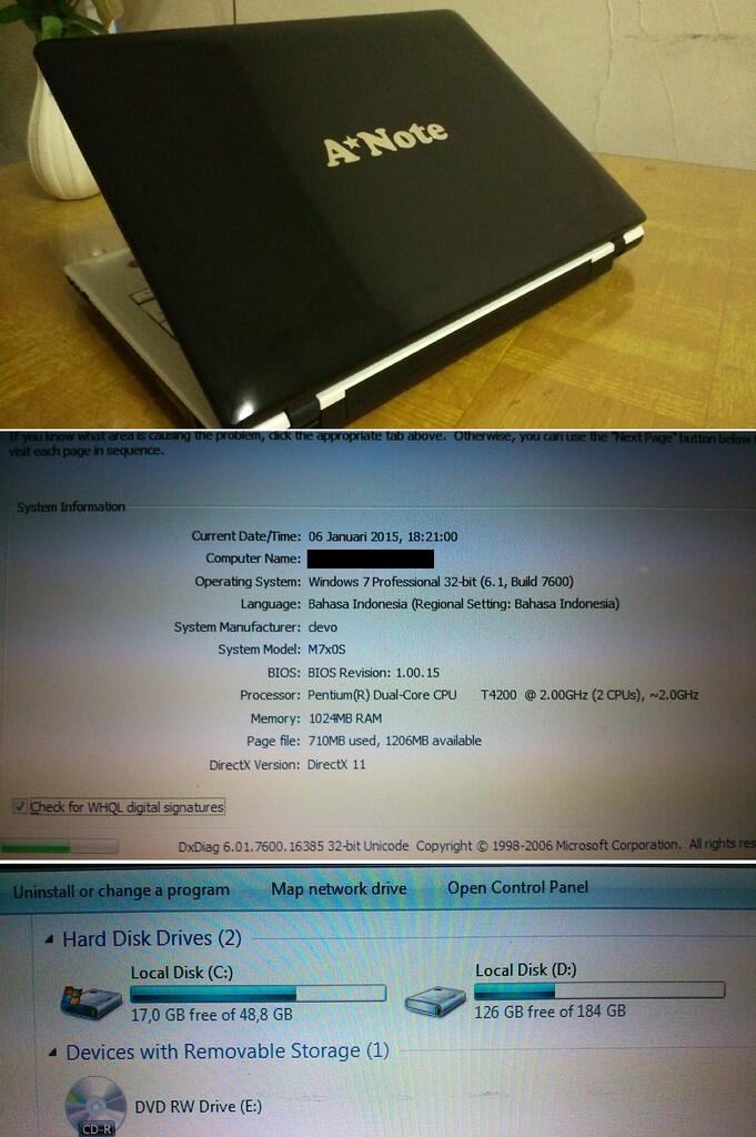 Notebook & Netbook - 2ND - Murah - BenQ dan Anote