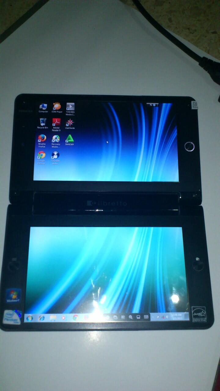 Laptop tablet terkecil toshiba libretto w100 hardisk ssd 64 gb + Bonus di surabaya