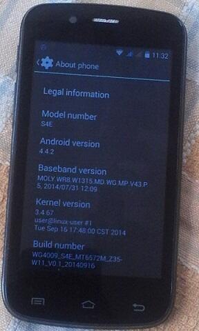 Advan S4E Android 4.4.2 batangan mulus segel garansi