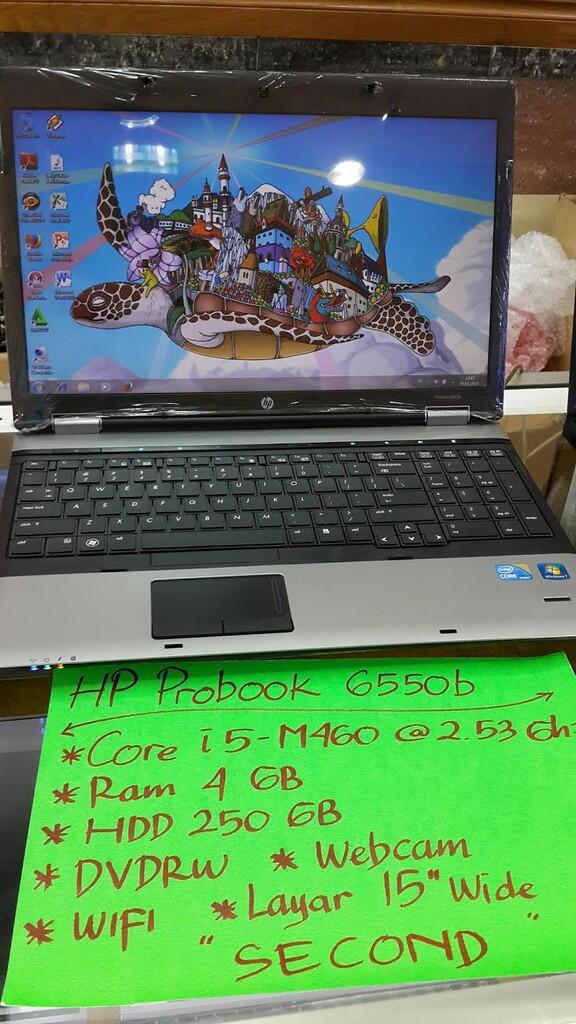 HP PROBOOK 6550B CORE I5 2.4GHZ / 4GB RAM / HDD 250GB / STIKER WINDOWS / DVDRW