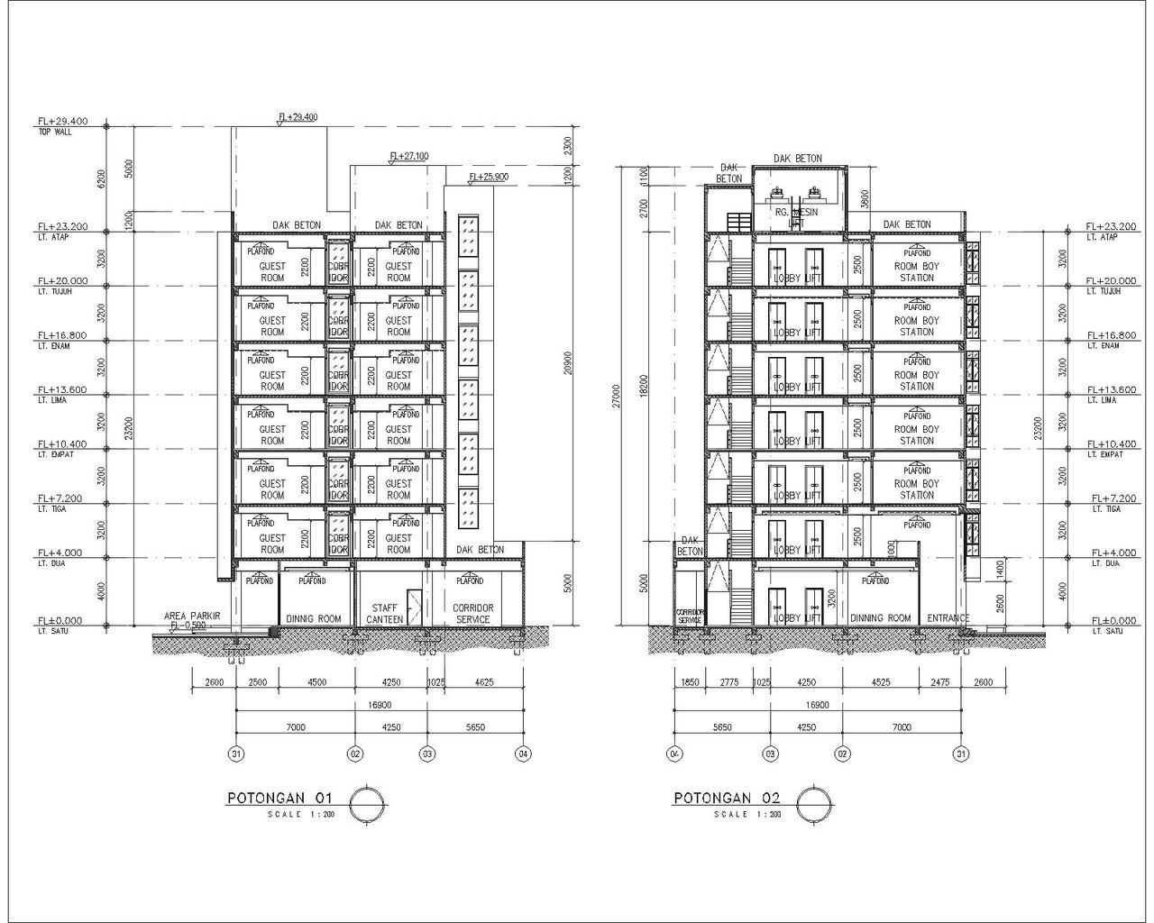 Jasa Drafter Arsitektur Freelance