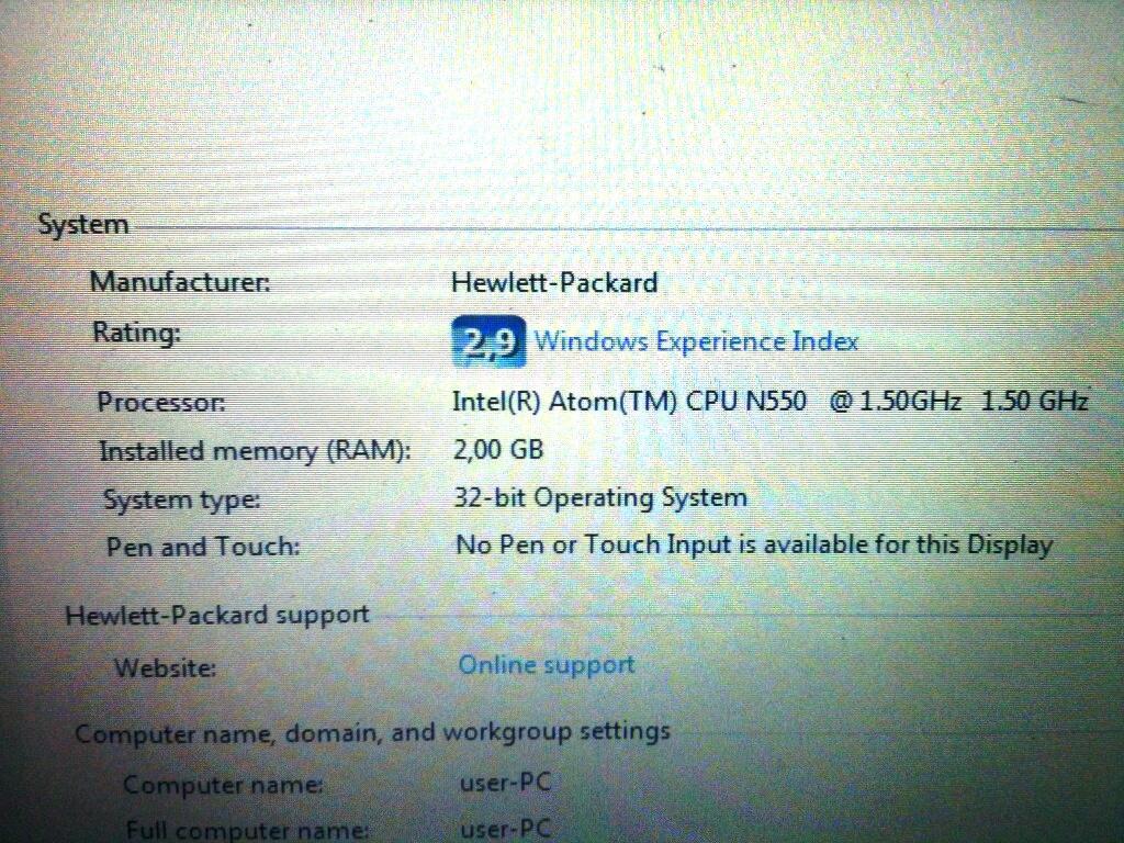 Jual Murah aja Netbook HP Mini 110-3500 Daerah Jakarta