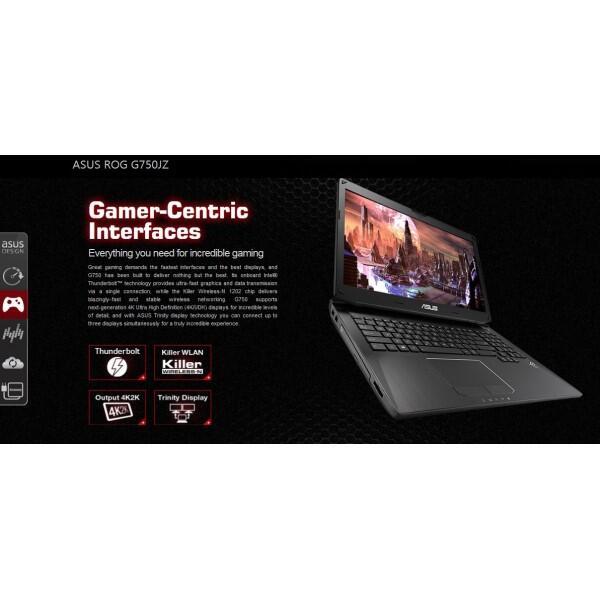 """ROG Laptop """"Asus ROG G750JZ - T4222H Black"""""""