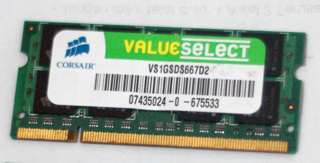 RAM Notebook/laptop DDR2 Corsair 1GB