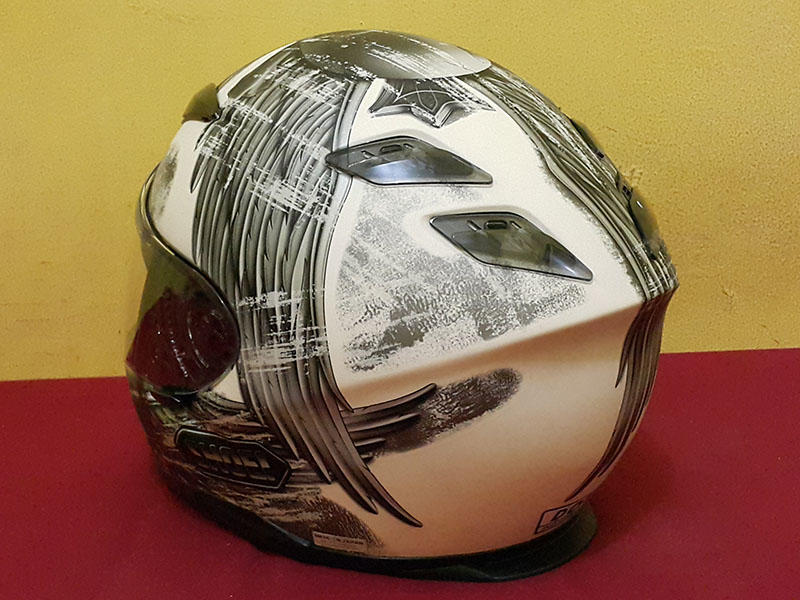 HELM SHOEI RF1100 WHITE 95% (NOT AGV HJC NOLAN ARAI APALAGI KYT INK )
