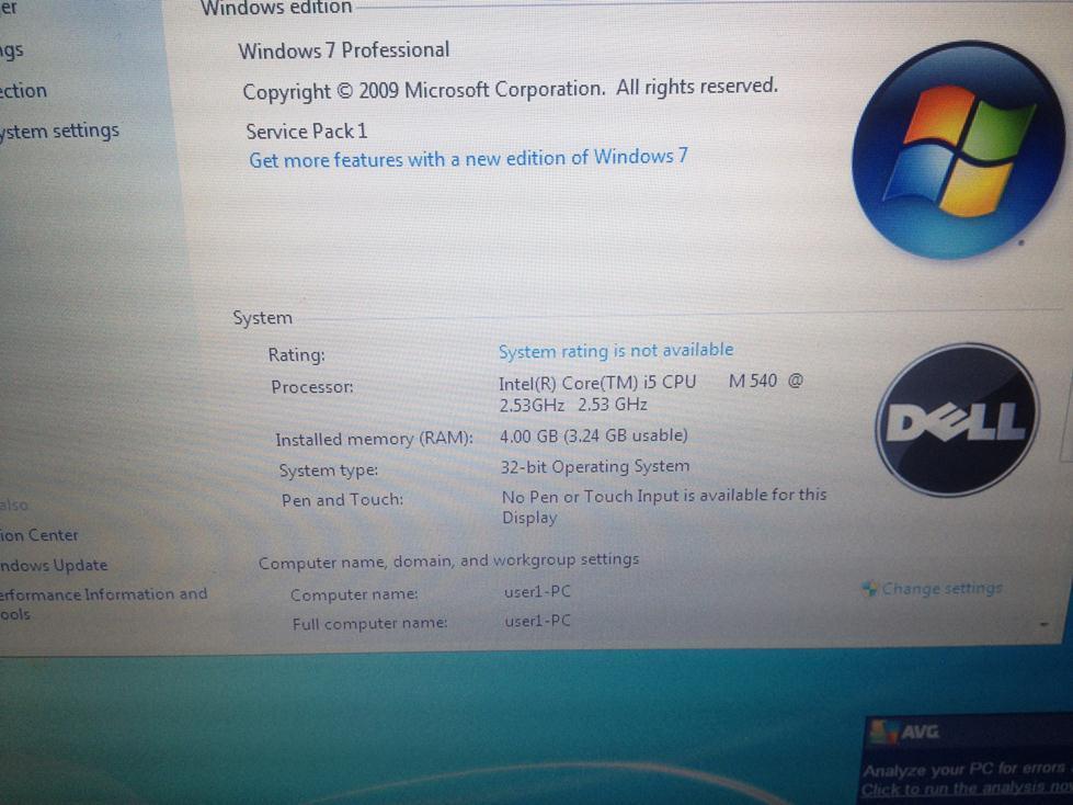 DELL LATITUDE E6410 |I5 540M 2.53GHZ|NVIDIA 3100M|4 GB RAM|250 GB HDD|MULUS