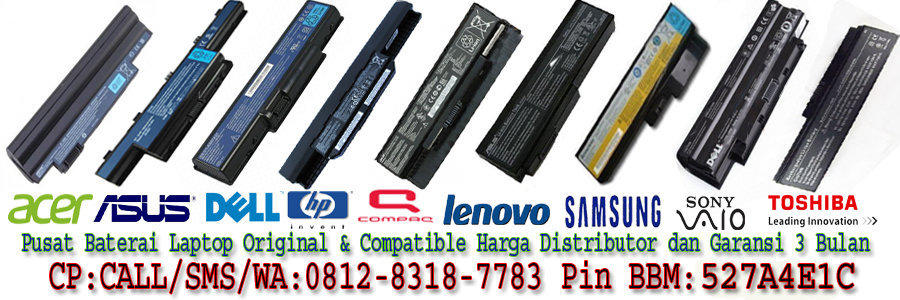 *Hot Sale*Baterai/Batre Laptop Mac -Acer-Asus-Dell-Lenovo-Hp/Compaq-Toshiba-Sony-Axio