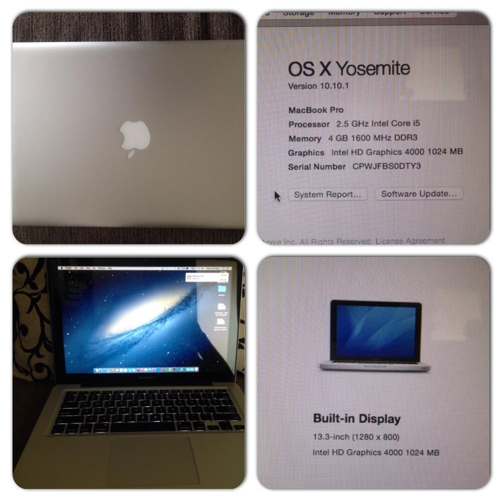 """Dijual Mac Book Pro 13"""" Mid 2012 - Intel Core i5"""