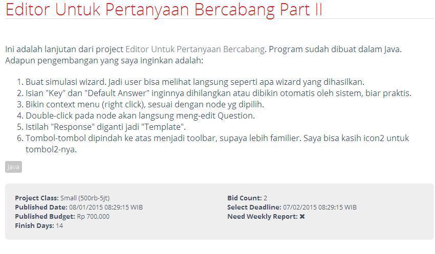 [LOWONGAN FREELANCE INDONESIA] Editor Untuk Pertanyaan Bercabang Part II