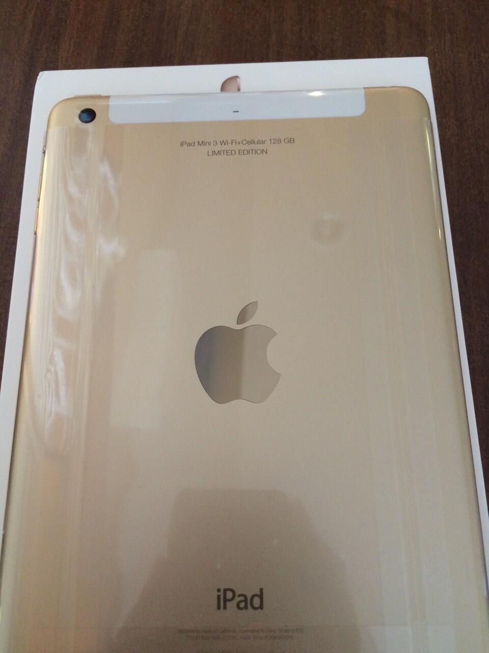 iPad Mini 3 Gold Wifi+Cellular 128 GB mulus 100 % LIMITED EDITION