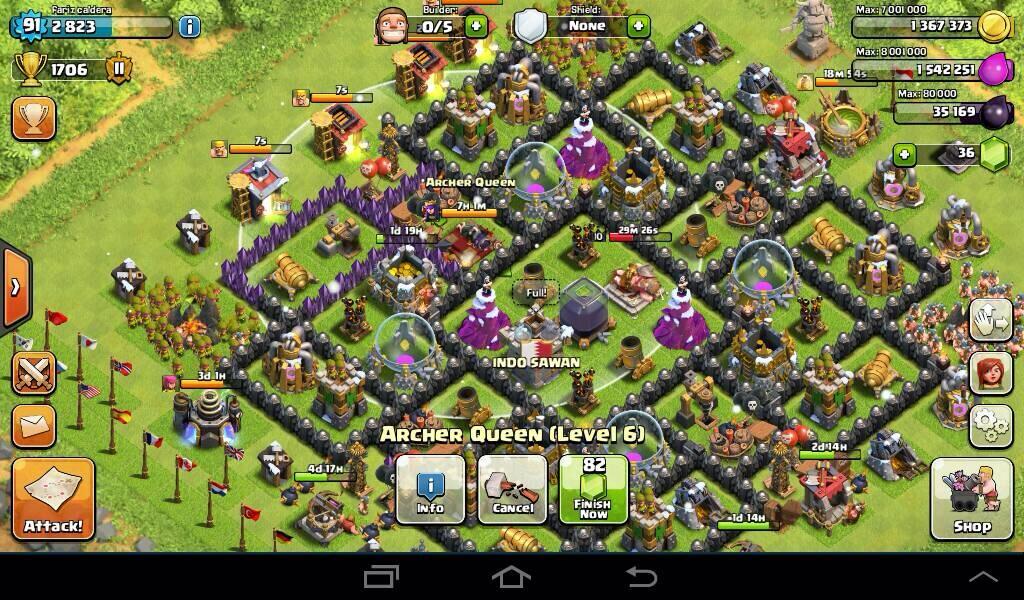 WTS ID clash of clans (COC) TH 8, beberapa hari lagi TH 9