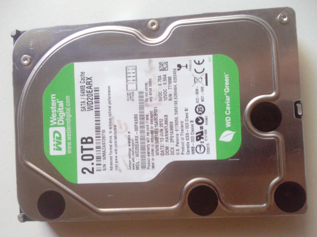JUAL HDD WDC 2T Second