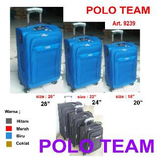Terjual Koper Polo Team Softcase Roda 4 Putar 360 Tsa Lock