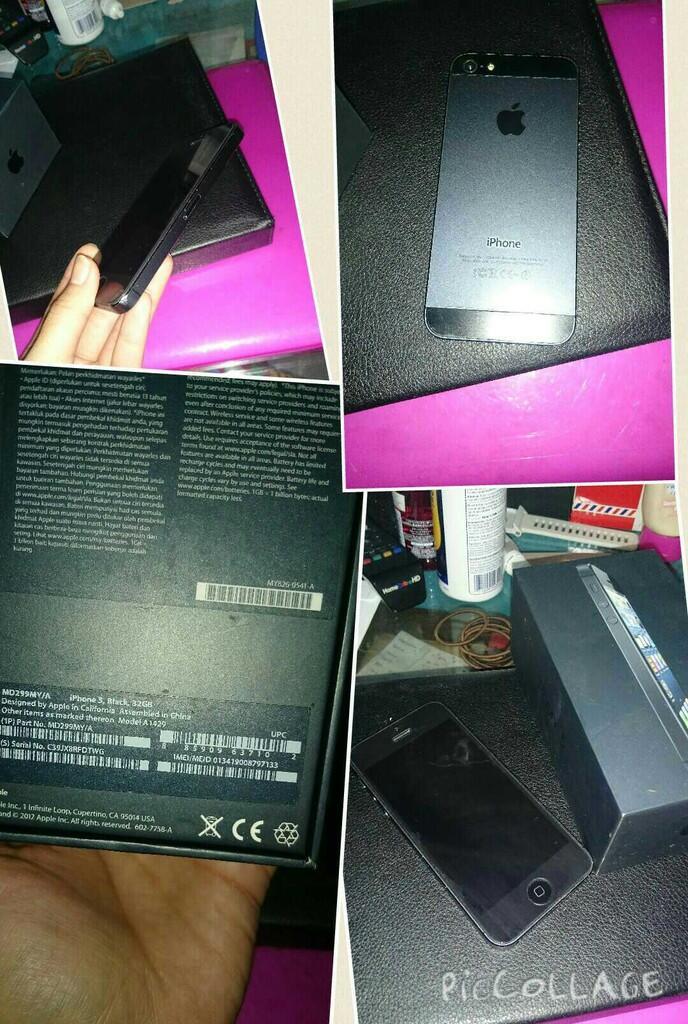 iphone 5 32GB Hitam