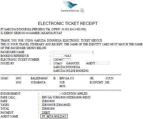 Terjual Agen Resmi Penjualan Tiket Pesawat Garuda Citilink Lion