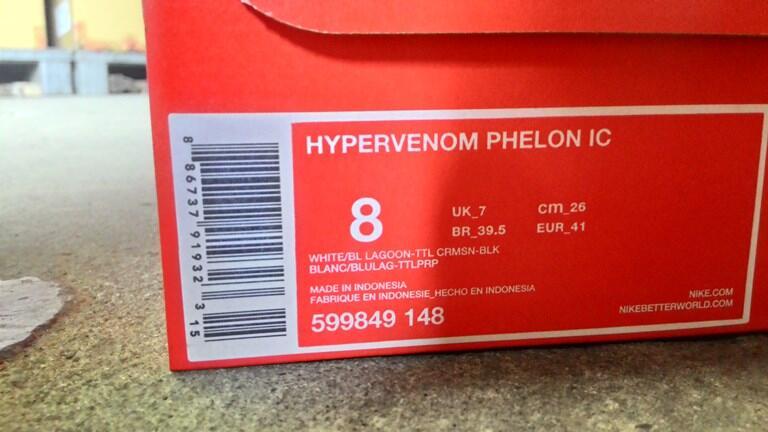Sepatu Futsal Nike Hypervenom Phelon IC SHINE THROUGH WHITE BLUE 40 - 45 ORIGINAL