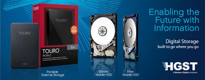 HDD 1TB USB 3.0 External Harddisk HITACHI TOURO di Jamin Termurah Garansi 3 Tahun