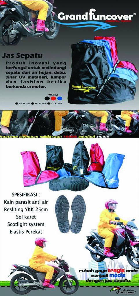 Distributor Jas Sepatu Hujan / Mantel / Cover Shoes Funcover Jabodetabek