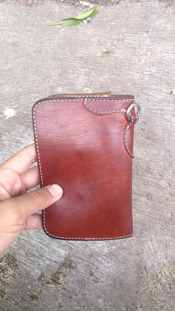 WTS LTHRKRFT Kuro Medium Wallet Tan Leather Goods