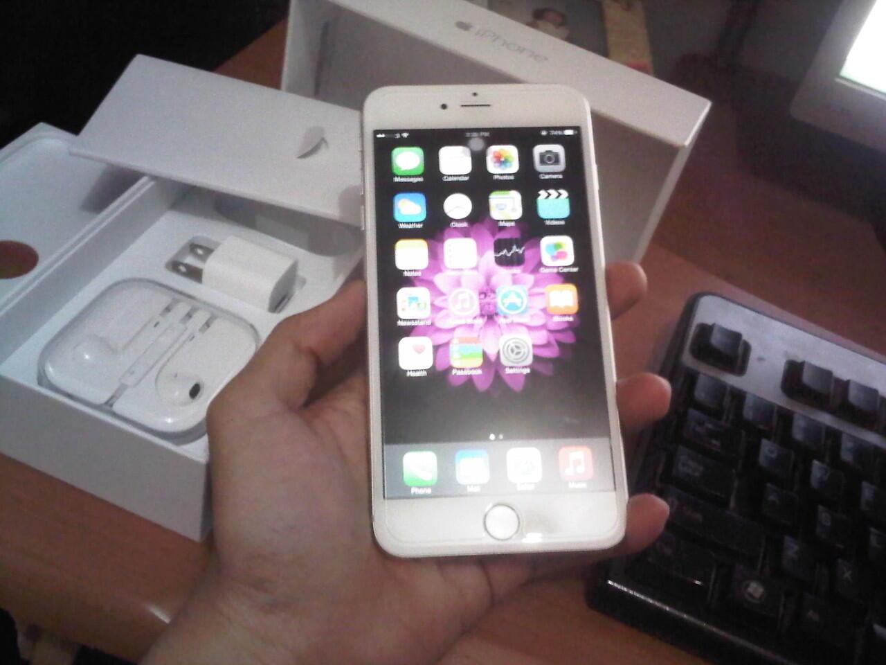 Iphone 6+ 16GB Silver FU MURAH GAN !!! MULUS LIKE NEW !!!