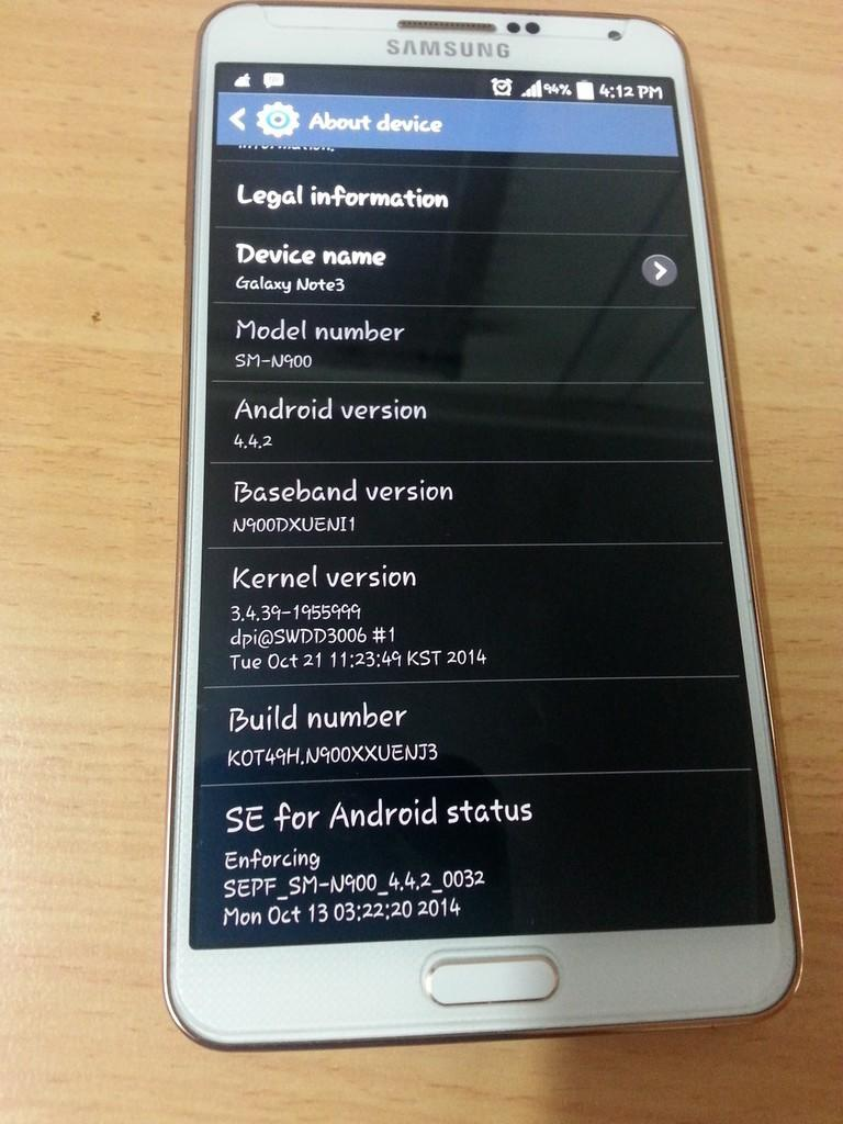 Jual Note 3 White Gold (baru 5 bulan - Garansi SEIN)