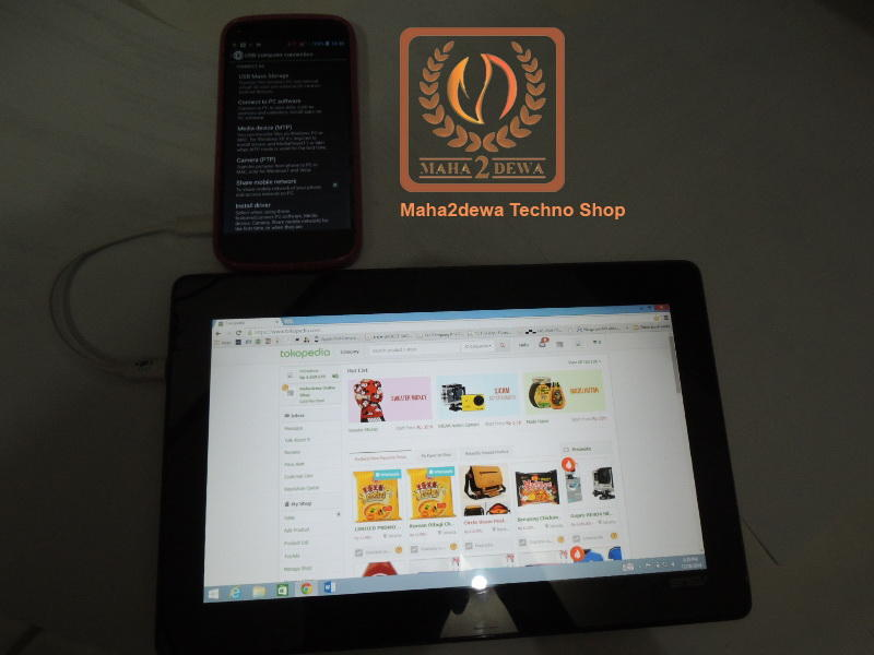 Micro USB On The Go OTG to Micro USB Tablet Windows Android untuk Charge Data Modem